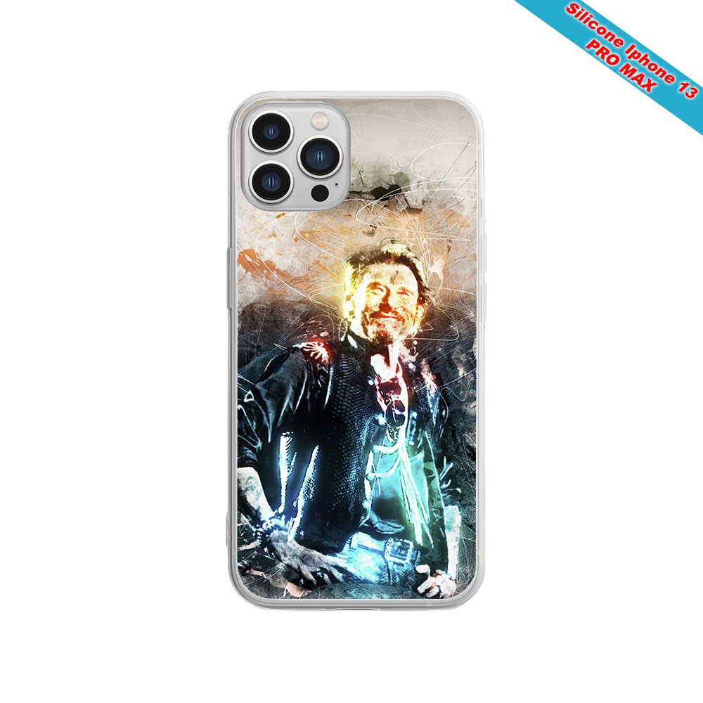 Coque silicone Iphone XR Fan de Sons Of Anarchy obsidienne