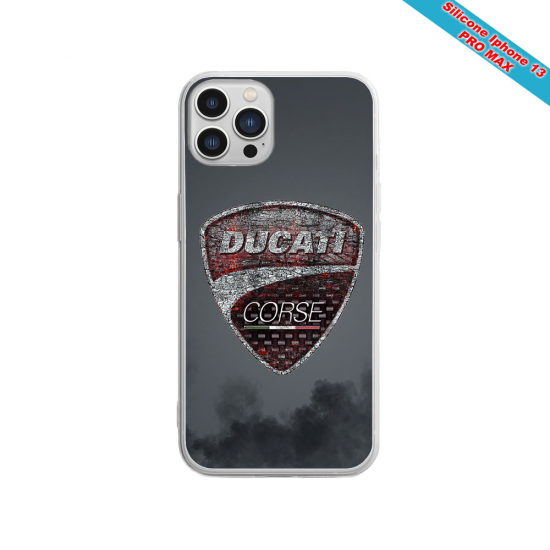 Coque silicone Iphone XS MAX Verre Trempé Fan de Sons Of Anarchy obsidienne