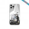 Coque silicone Iphone 11 verre trempé Fan de Sons Of Anarchy obsidienne