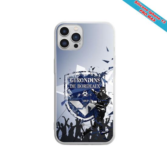 Coque silicone Iphone 11 Pro verre trempé Fan de Sons Of Anarchy obsidienne