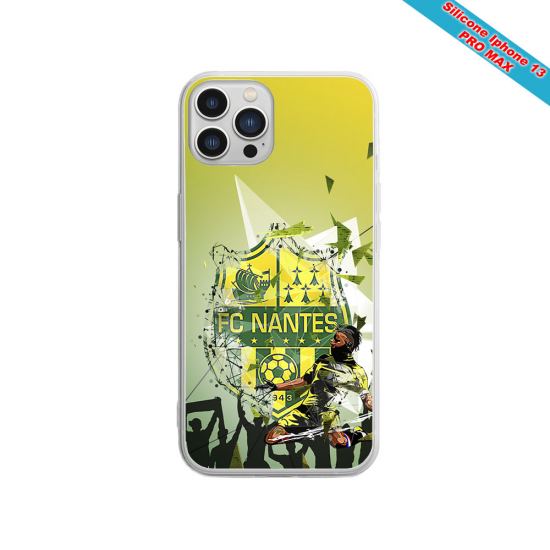 Coque silicone Iphone 12 Fan de Sons Of Anarchy obsidienne