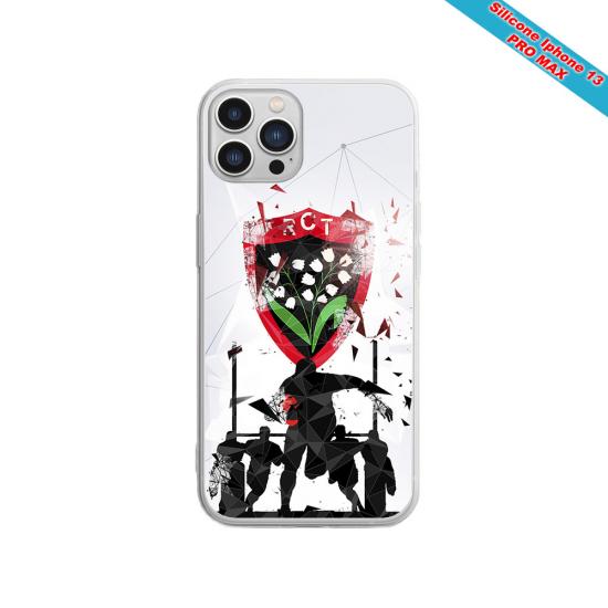 Coque silicone gravure sur bois Pan