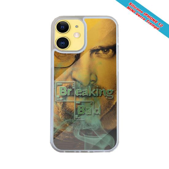 Coque Iphone et Samsung en bois Kaméléon robot