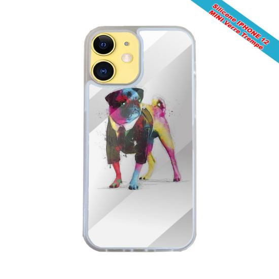 Coque Iphone et Samsung en bois Poisson robot
