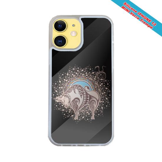 Coque silicone gravure sur bois Tête de cheval