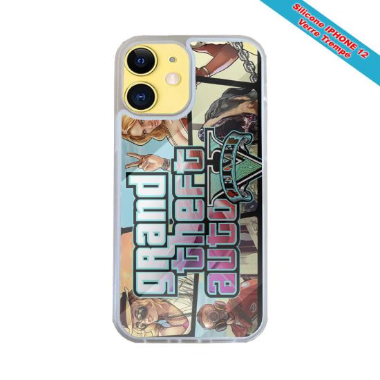 Coque Iphone et Samsung en bois Femme dans la foret