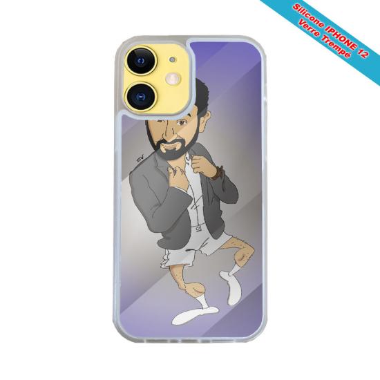 Coque Iphone et Samsung en bois Femme méditation aille