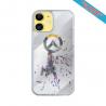 Coque IPhone silicone gravure sur Queue de Baleine Matières:Silicone et bois bambou