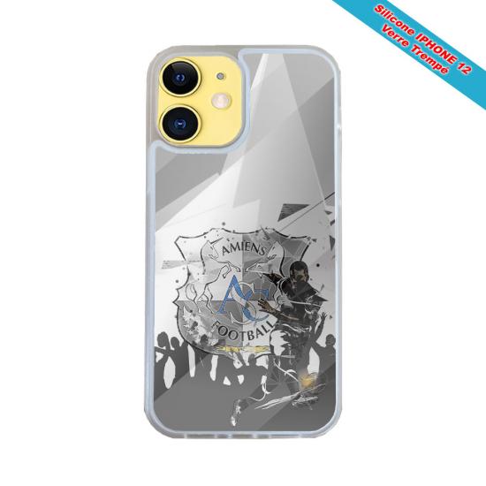 Coque IPhone silicone gravure sur bois mandala tigre