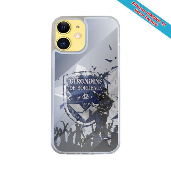 Coque IPhone silicone gravure sur bois Geisha