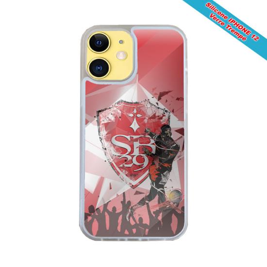 Coque IPhone silicone gravure sur bois Fée à genoux