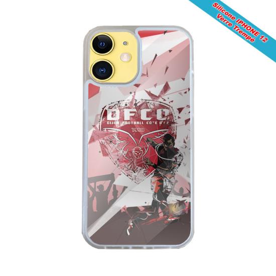 Coque IPhone silicone gravure sur bois Gorille casque audio