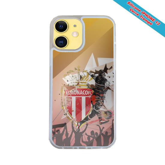 Coque IPhone silicone gravure sur bois lys