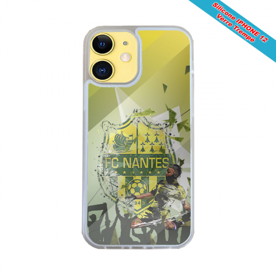 Coque IPhone silicone gravure sur Sihouette Papillon