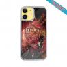 Coque IPhone silicone gravure sur Montgolfière et Baleine