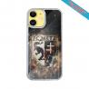 Coque IPhone silicone gravure sur Perroquet en Vol