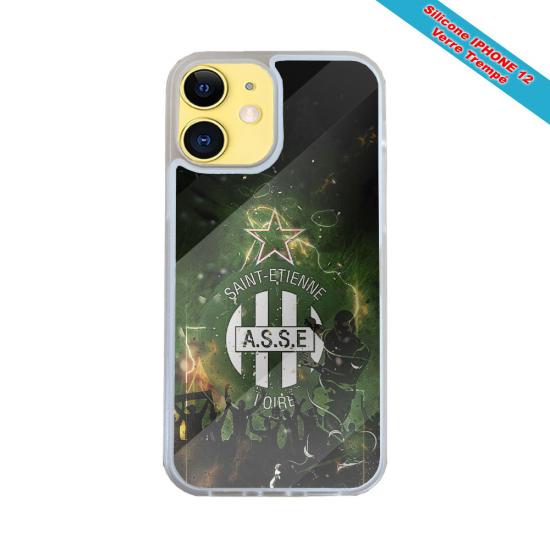 Coque Silicone iphone 7/8 verre trempé Fan de Harley davidson obsidienne
