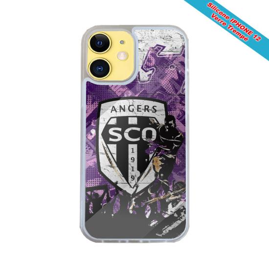 Coque silicone Iphone X/XS verre trempé Fan de Harley davidson obsidienne