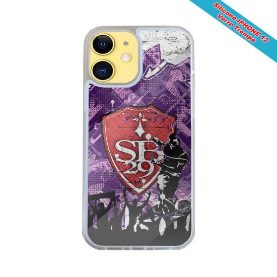 Coque silicone Iphone XR Fan de Harley davidson obsidienne