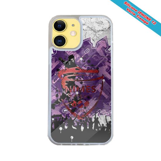 Coque silicone Iphone SE 2020 verre trempé Fan de Harley davidson obsidienne