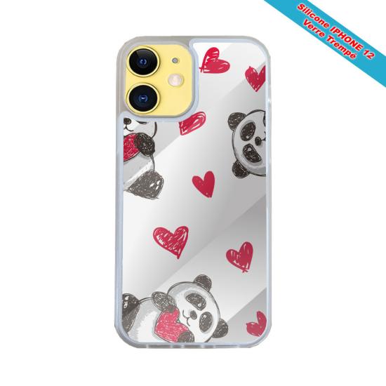Coque Silicone Galaxy S9 verre trempé Fan de Harley davidson obsidienne