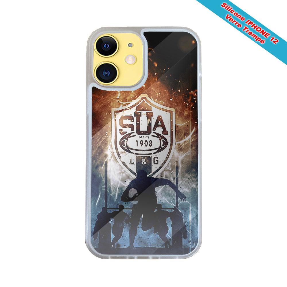 Coque Silicone Galaxy S9 PLUS verre trempé Fan de Harley davidson obsidienne