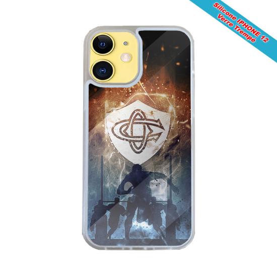 Coque Silicone Galaxy S10E verre trempé Fan de Harley davidson obsidienne