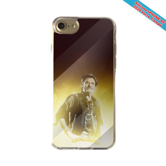 Coque silicone Iphone X/XS verre trempé Fan de Porsche géometrics